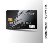modern credit card template... | Shutterstock .eps vector #769995445