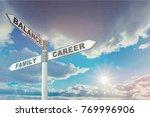 signpost  road  sign. | Shutterstock . vector #769996906