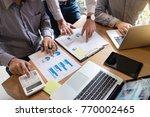 business team meeting working... | Shutterstock . vector #770002465