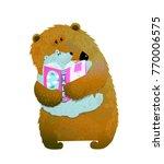 bear family reading. mother or... | Shutterstock .eps vector #770006575