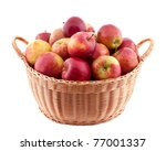 Wicker Basket Full Of Apples...