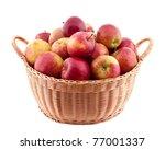 Wicker Basket Full Of Apples...