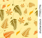 seamless autumn leaves... | Shutterstock . vector #77001796