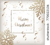 christmas background with gold... | Shutterstock .eps vector #770022136