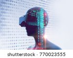 3d rendering of virtual human... | Shutterstock . vector #770023555