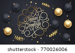season greetings font text... | Shutterstock .eps vector #770026006