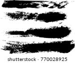 set of grunge brush strokes     | Shutterstock .eps vector #770028925