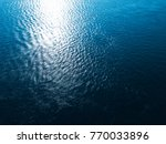 sea surfase aerial view. strong ... | Shutterstock . vector #770033896