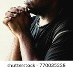 contemplative african american...   Shutterstock . vector #770035228