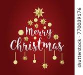 merry christmas typography... | Shutterstock .eps vector #770039176