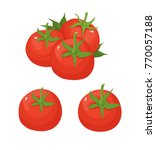 tomato simple vector | Shutterstock .eps vector #770057188