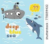 under deep blue sea  vector...   Shutterstock .eps vector #770059432