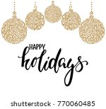 hanging christmas ball with a... | Shutterstock . vector #770060485