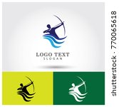 archer logo vector icon template   Shutterstock .eps vector #770065618