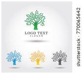 tree   nature logo vector icon... | Shutterstock .eps vector #770065642