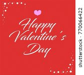 happy valentine s day greeting... | Shutterstock . vector #770066422