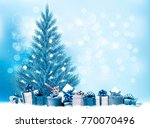 holiday christmas background... | Shutterstock .eps vector #770070496