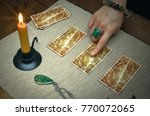 tarot cards on fortune teller... | Shutterstock . vector #770072065