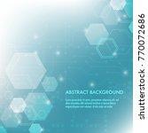 minimal design  the hexagonal... | Shutterstock .eps vector #770072686