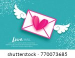 greeting card for valentine's... | Shutterstock .eps vector #770073685