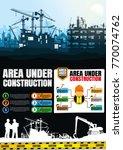 construction silhouettes vector ... | Shutterstock .eps vector #770074762