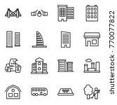 thin line icon set   bridge ...   Shutterstock .eps vector #770077822
