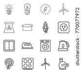thin line icon set   bulb ... | Shutterstock .eps vector #770077972