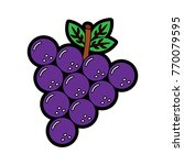 grapes fruit icon image  | Shutterstock .eps vector #770079595