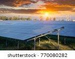 solar panel  photovoltaic ... | Shutterstock . vector #770080282