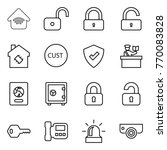 thin line icon set   wireless... | Shutterstock .eps vector #770083828