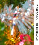 christmas concept  blurred... | Shutterstock . vector #770085532