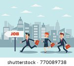 business people running in the... | Shutterstock .eps vector #770089738