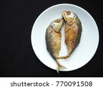 Fried Two Short Bodied Mackere...