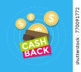 brown wallet icon cash back ...   Shutterstock .eps vector #770091772