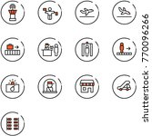 line vector icon set   airport... | Shutterstock .eps vector #770096266
