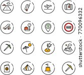 line vector icon set   runway... | Shutterstock .eps vector #770096332