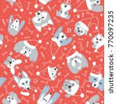 vector seamless pattern with... | Shutterstock .eps vector #770097235