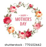 happy mother's day. vector... | Shutterstock .eps vector #770102662