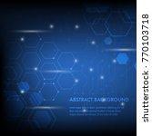 minimal design  the hexagonal... | Shutterstock .eps vector #770103718