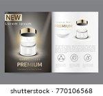 premium cosmetics  face cream... | Shutterstock .eps vector #770106568