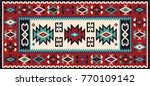 colorful oriental mosaic kilim... | Shutterstock .eps vector #770109142