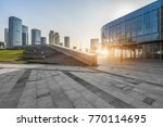 modern buildings and empty... | Shutterstock . vector #770114695