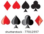 playing cards  card suit | Shutterstock .eps vector #77012557