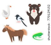 stickers and icons set of cute... | Shutterstock .eps vector #770129152