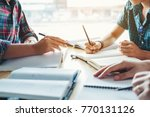high school or college students ... | Shutterstock . vector #770131126