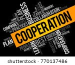 cooperation word cloud collage  ... | Shutterstock .eps vector #770137486