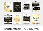 holidays cards and posters... | Shutterstock .eps vector #770139796