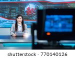 beautiful asian television... | Shutterstock . vector #770140126
