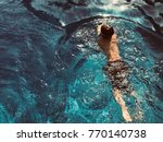 swim in the pool   Shutterstock . vector #770140738