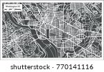 washington dc usa map in retro... | Shutterstock .eps vector #770141116